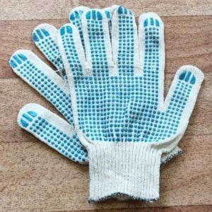 Перчатки трикотажные хб с пвх одна пара