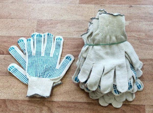 Перчатки трикотажные хб с пвх упаковка по парам