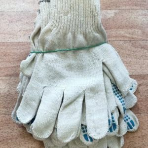 Перчатки трикотажные хб с пвх упаковка 10 пар